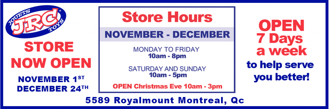 STORE BANNER hours
